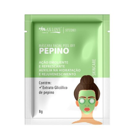 máscara facial peel off pepino