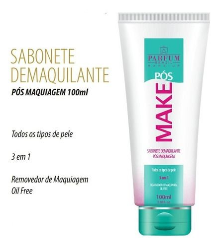 Sabonete Pós Make Limpeza Facial Parfum Brasil