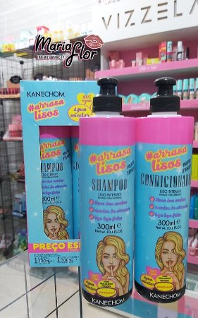 Kanechom Arrasa Lisos Kit Shampoo E Condicionador Vegano