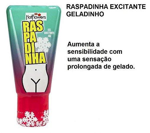 Raspadinha Excitante Feminino 15g Linha Brasileirinhos Hot Flowers - Sex shop
