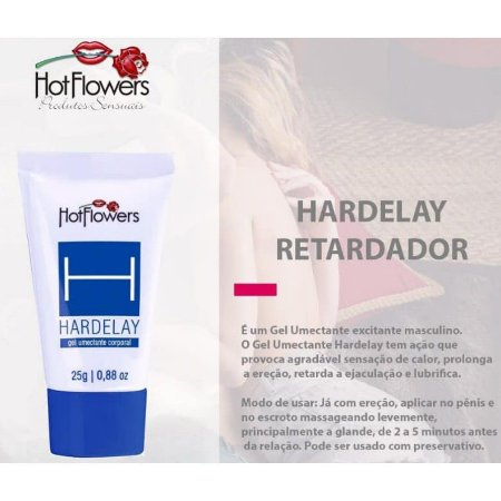 Gel Retardador Hardelay Bisnaga 25g - Hot Flowers