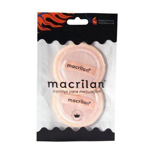 Macrilan - Kit 2 Esponjas Redondas para Maquiagem