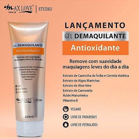 Gel Demaquilante Antioxidante Max Love Vegano 250ml remove maquiagem ( embalagem grande)