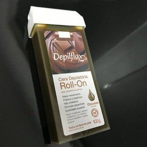 CERA DEPILATÓRIA ROLL-ON DEPILFLAX NEGRA 100G