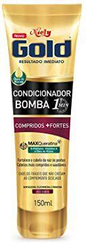 Gold Condicionador Bomba Compridos + Fortes, 150 Ml, Niely, Niely