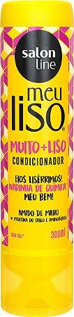 CONDICIONADOR MEU LISO MUITO+LISO AMIDO DE MILHO SALON LINE 300ML