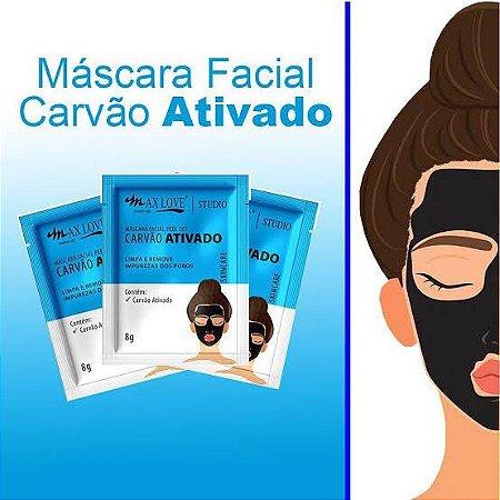 Máscara Facial Max Love Peel Off Carvão Ativado 8g (kit com 10)