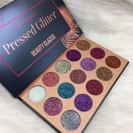 Paleta beauty Glazed Gliter prensado