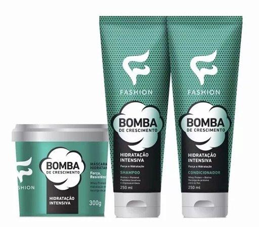 Kit Shampoo+ Condicionador +Máscara Bomba De Crescimento
