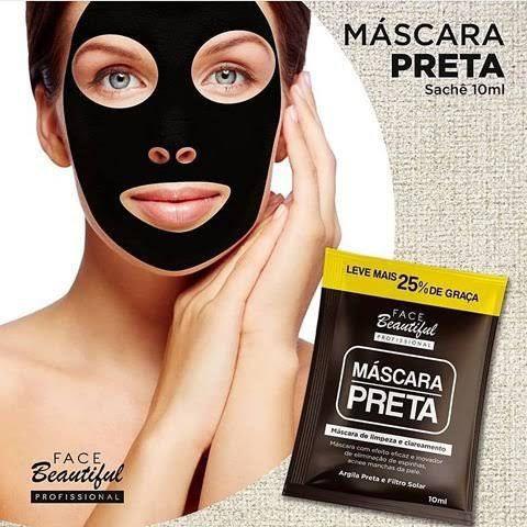 Máscara Preta de Limpeza e Clareamento Face Beautiful 10ml