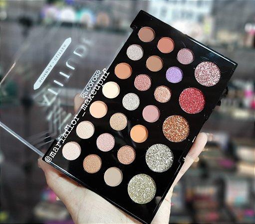 Paleta De Sombra E Glitter Atitude – Sp Colors