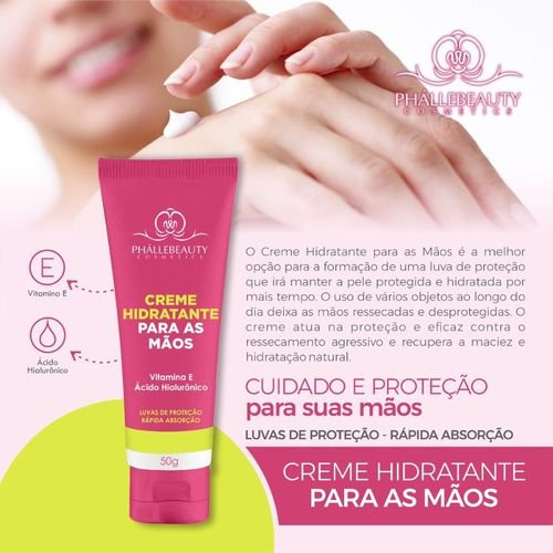 Creme Hidratante Para As Mãos - Phállebeauty