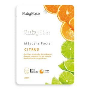 Máscara Facial De Tecido Citrus Skin - Ruby Rose