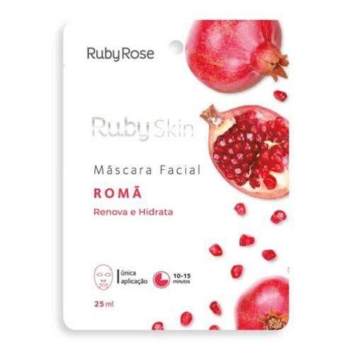 Máscara Facial De Tecido Romã Skin - Ruby Rose