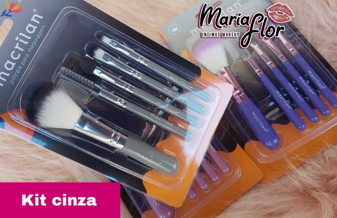 Mini Kit Pincel Cinza