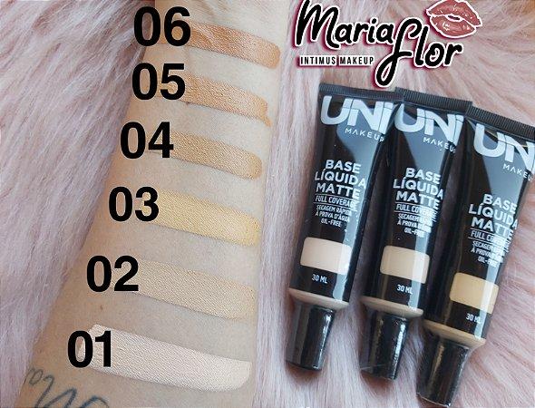 Base Liquida Matte A Prova D'água Uni Makeup