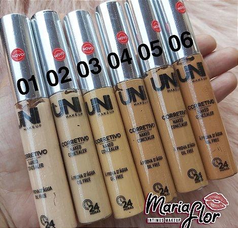 Corretivo Líquido Longa Duração - Uni Makeup ( resistente a agua)