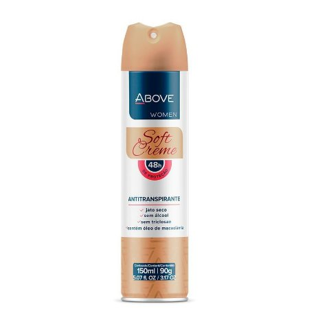 Desodorante Aerosol Above Soft Creme Women 150ml