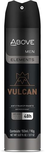 Desodorante Aerosol Above Men Elements Vulcan 150ml