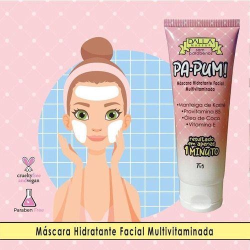 máscara hidratante multivitaminada pa-pum! - dalla makeup