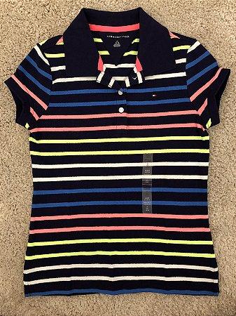 f75ceab781e27 Camiseta Tommy Gola Polo Listrada Colorida - Roupas de bebê e ...