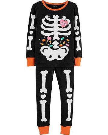 079b5517f Conjunto Pijama 2 Peças Halloween Esqueleto Brilha no Escuro ...