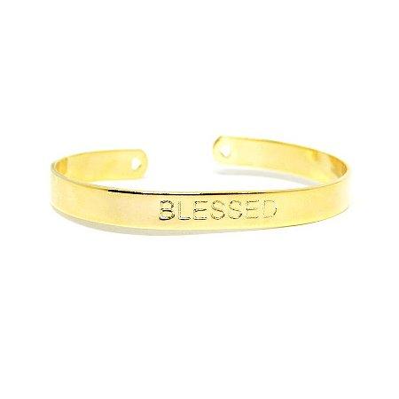 Bracelete Blessed folheado em ouro 18k