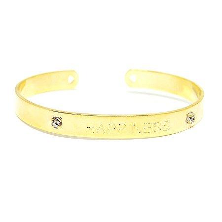 Bracelete Happiness folheado em ouro 18k