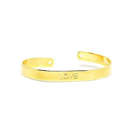 Bracelete Love folheado em ouro 18k