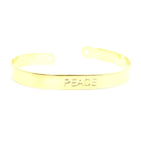 Bracelete Peace folheado em ouro 18k