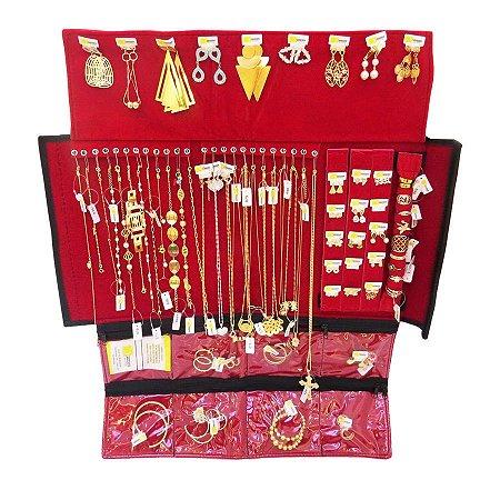 Kit Revenda Semi-Jóias 69 peças folheadas em ouro 18k