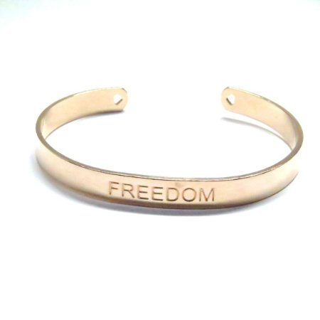Bracelete Freedom folheado em ouro rosé 18k