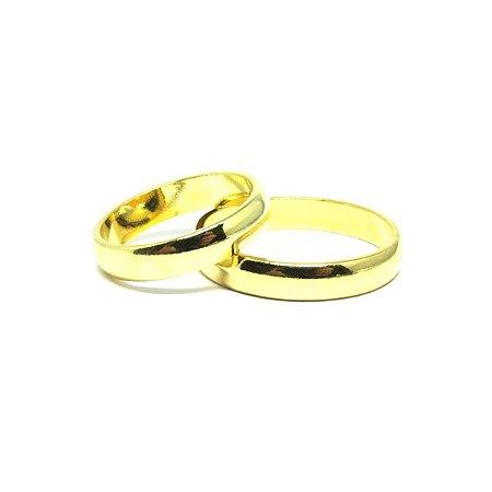 Aliança fina folheado em ouro 18k