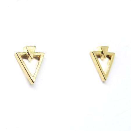Brinco triangular folheado em ouro 18k