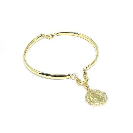 Pulseira bracelete medalha de São Bento