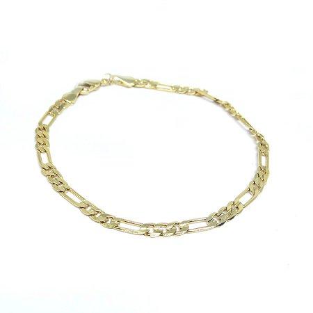 Pulseira Cartier masculina folheada em ouro 18k