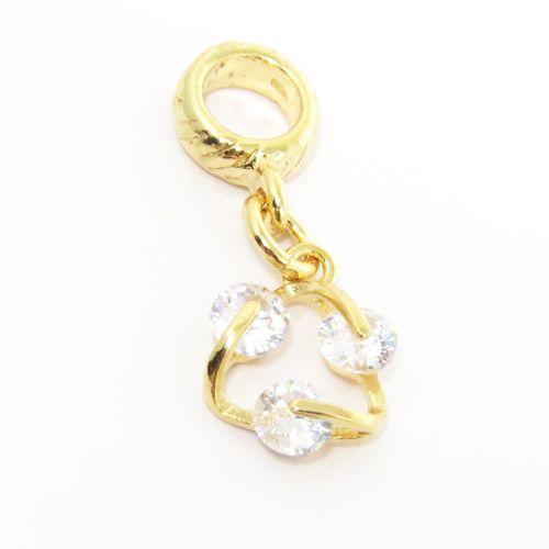 Berloque pingente ciclo folheado em ouro 18k