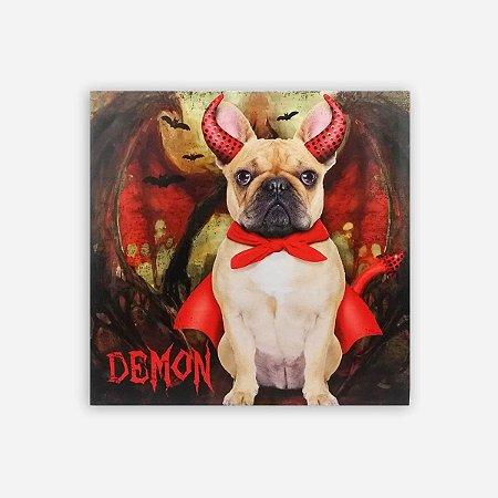 Quadro Bulldog Diabo Led