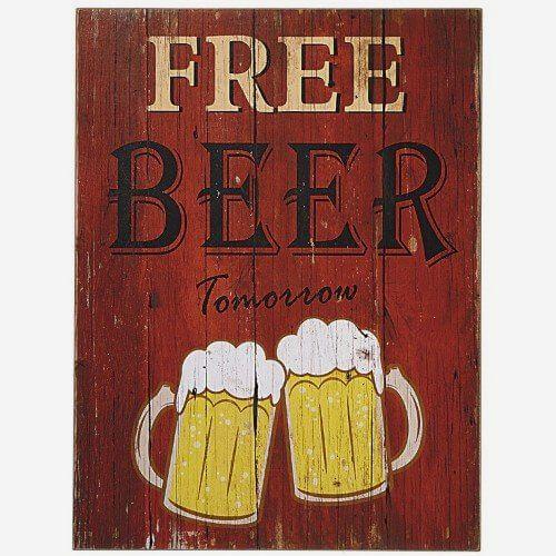 Placa Decorativa Beer Here