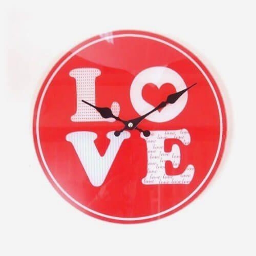 Relógio de Parede Love
