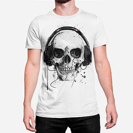 Camiseta Masculina Skull Headphone