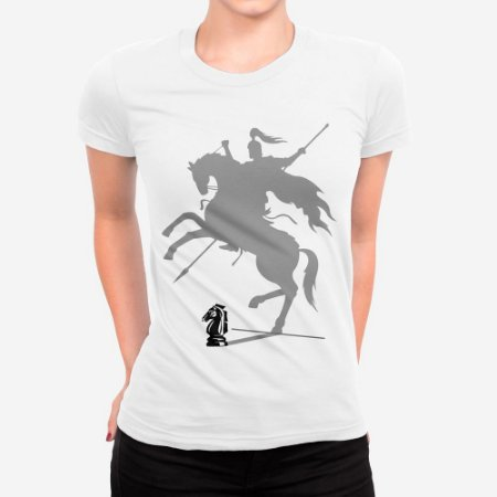 Camiseta Feminina Cavaleiro Xadrez