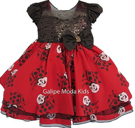 ce3823efa3b Vestido Infantil Joaninha - Galipe Moda Kids - Vestido para Princesas