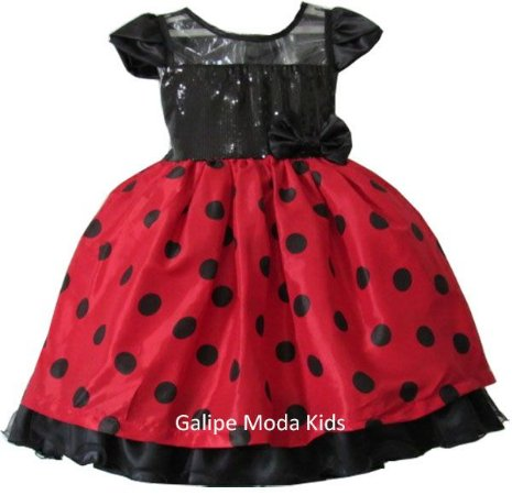 f8f7c95c45f Vestido Infantil Minnie Vermelha - Galipe Moda Kids - Vestido para ...