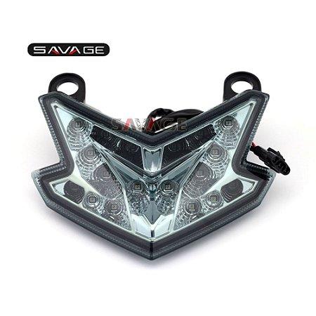 Lanterna traseira LED com seta integrada - Kawasaki Ninja ZX6R - Z800