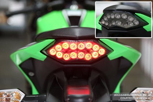 Encomenda - Motodynamic - Lanterna traseira LED com seta integrada - Kawasaki - Suzuki - Yamaha - BMW - Triumph - Honda