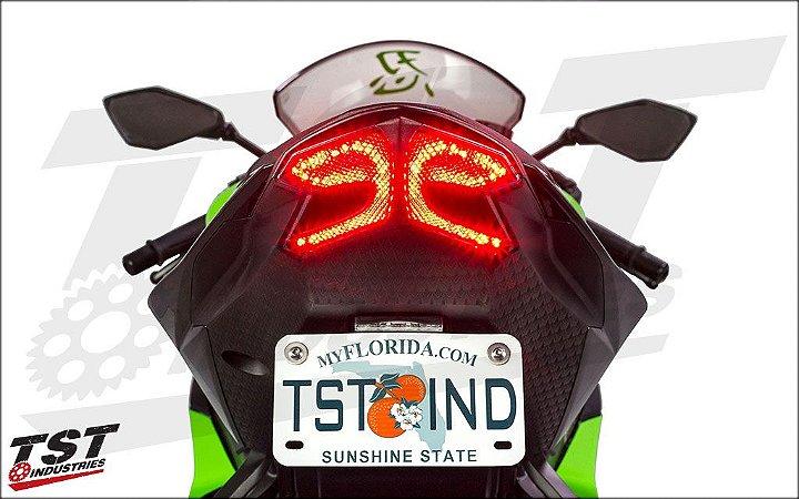Encomenda - TST Industries - Lanterna traseira LED com seta integrada - Kawasaki - Suzuki - Yamaha - BMW - Triumph - Honda