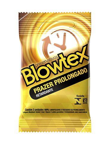 Preservativo Blowtex Prazer Prolongado 3 unidades