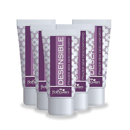 Kit Desensible Gel Lubrificante - Embalagem c/ 10und. Hot Flowers