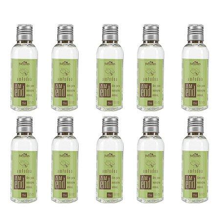 Óleo Para Massagem Amend 120ml  - Kit c/10 Und Hot Flowers